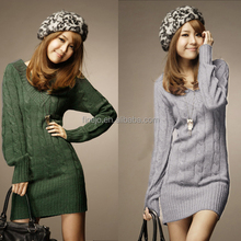 Fashion Casual Women's V Neck Sweater Jumper Long Sleeve Mini Dress Pullover Tops#9201