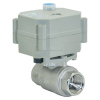 2 way ss316 electronic/ electric actuator shut off ball valve for water leaking detection