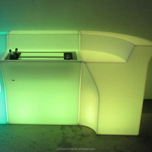Factory wholesale colorful custom color LED coffee bar counter for sale