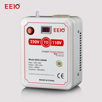 2000W220V-110V voltage converter used to Japan and American Electric the Power Transformers with voltage display