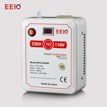 2000W220V to 110V voltage converter used to Japan and American Electric Appliance Voltage Transformer with voltage display