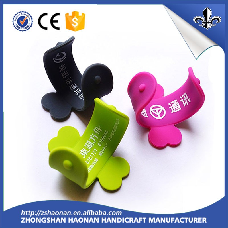Custom Silicone U Shape Cellphone Stand Mobile Phone Holder