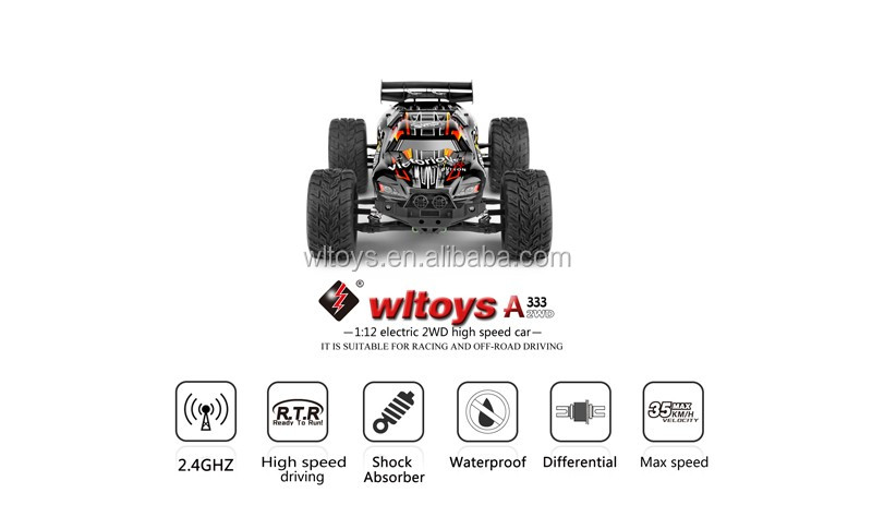 A333 2.4G 1:12 Electric 2 wheel drive Off Road Car