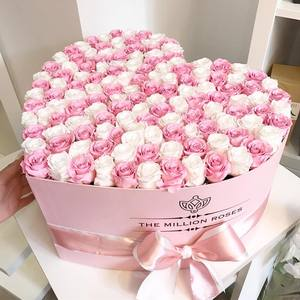 Flower rose package fresh preserved flower paper box for flowers