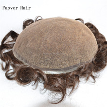 "10x8 human hair pieces 1b,2#,3#,4#,5#,6#,7# color men's toupee 6"" length full swiss lace hair replacement bleach knots"