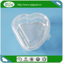 Hearted Shape Disposable Fruit Salad Container
