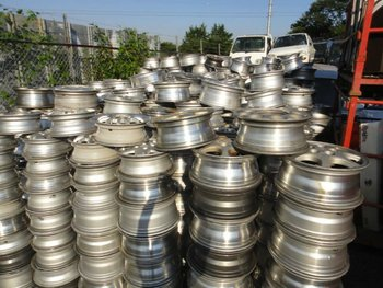 used auto parts sell aluminum scrap for container 12~17 inchi