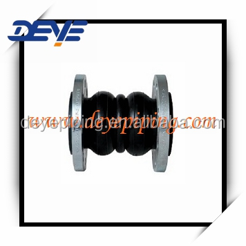 Rubber Expansion Joint Double Sphere With Galvanized Flange