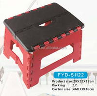 29*22*18cm plastic foldable folding step stool Home/Kitchen Garge Carry Multi Purpose Stool