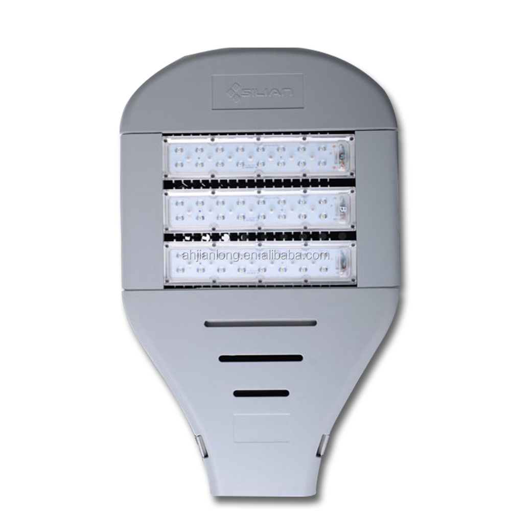 AC90-305V 100lm/w 165W IP66 led street light glass cover with Overtemperature, overpressure, overcurrent protection
