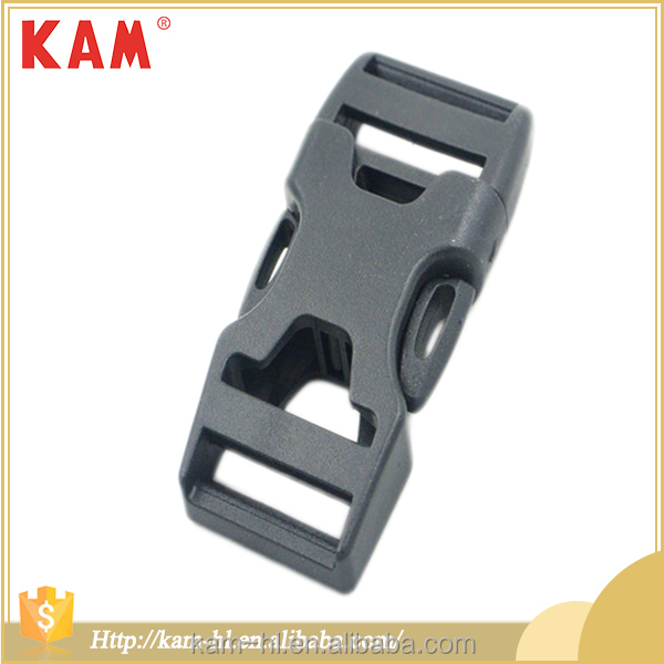 Cheap customized size adjustable strap plastic quick release buckle