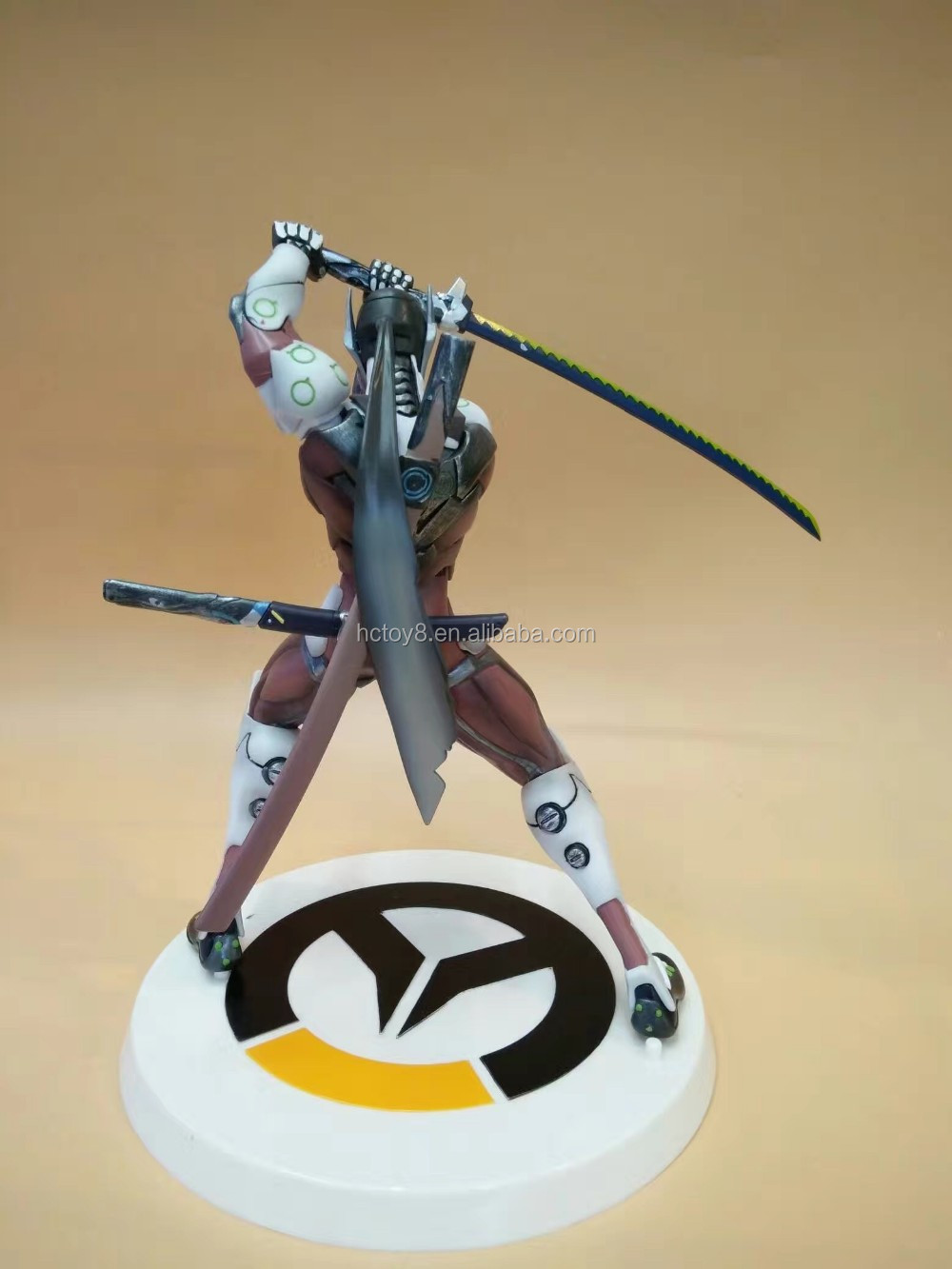 Gzltf Overwatch White Genji PVC Action Figure