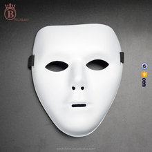 Cheap Classic PVC White Hip Hop Dancer Masquerade Halloween Party Mask