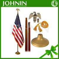 2016 new products high quality metal 30X45cm 100% polyester indoor flag pole