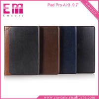 For iPad Pro Card Slot Book Flip Leather Case Smooth Cover Leather Case For iPad Pro