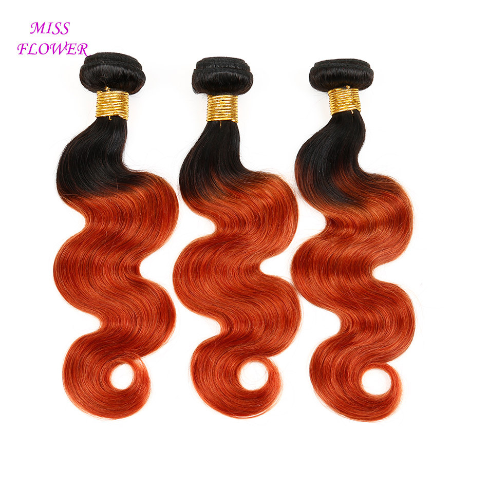 6A Ombre 2tone1b/350 Brazilian body wave human hair extension 3pcs lot 100g bundle,Beauty Color Brazilian virgin hair ombre weav