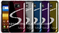 S Diamond Crhrome case cover for Samsung Galaxy S2 i9100