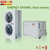 New split type commercial central heating cooling air source evi hot water heat pump with factory prices