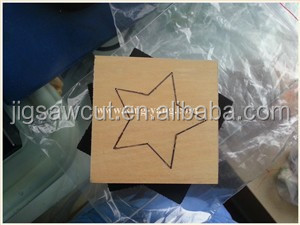 Star label wooden die cutter 15.8mm thick fit sizzix big shot