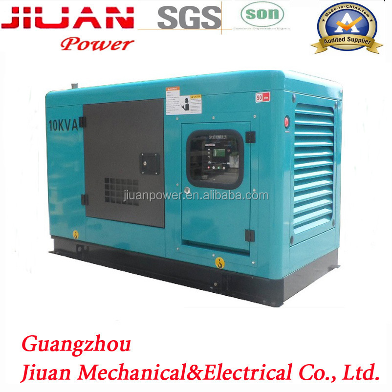 price silent diesel generator set 10kva china FOB Guangzhou port