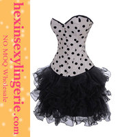 fashion women wholesale white gothic lace up corset dress