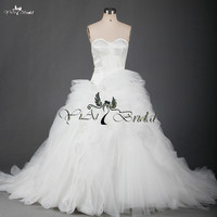 RSW701 Ruffle Patterns Suzhou White Alibaba Wedding Dress Sale