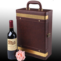 2 bottles wine glass packaging box