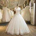 SL-18 New Arrival A-Line Beaded Appliques Tulle 2017 Wedding Dress Lace