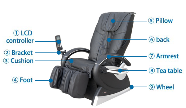 Coin Operated Massage Chair / Body Commercial Vending Massage Chair / Coin in chair massage DLK-H018-1T