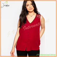 New Look Plus Size Sleeveless Hand Embroidery Designs For Blouses