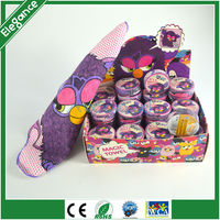 25x25cm furby cartoon printed kids towel magic compressed face towel in 4.5cm dia round shape