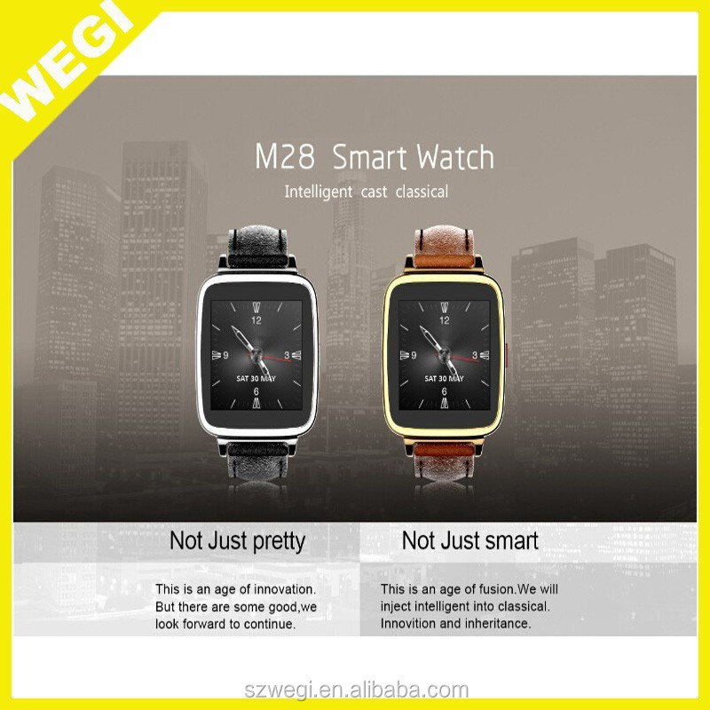 2015 New Arrival Fashion Luxury Business Bluetooth Smart Watch Wrist Watch for Samsung S4 Note Huawei Xiaomi Android Phone watch