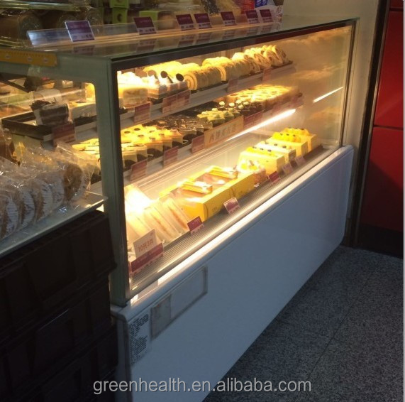 Green&Health Cake Showcase Fridge Freezer Sandwich Display Cooler Used Bakery Display Cases for sale