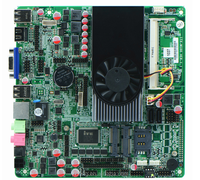 Intel Celeron 1037U all-in-one motherboard DC12 V Mini ITX Thin Motherbaord 1037u with 10 *RS232 COM Dual 24 bit LVDS