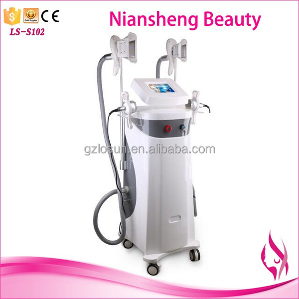 Newest Double cryolipolysis device + cavitation slimming machine + RF fat burning machine