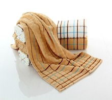 china supplier wholesale 100 cotton hair towel with stripe
