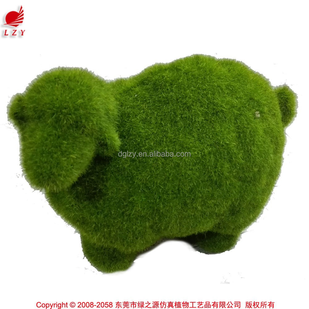 Fake animal figurine garden decorative moss animal tiny sheep