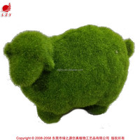 Fake Animal Figurine Garden Decorative Moss
