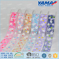 Factory supply wholesale organza printed ribbon for wedding decoration