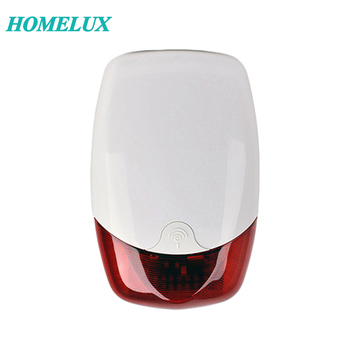 12VDC Homelux Waterproof Wired Outdoor Strobe Siren With Flash Light For Home Alarm System