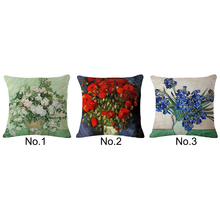 Sofa digital print decorative flower picture pillow case design novelty cushions oem cushion covers