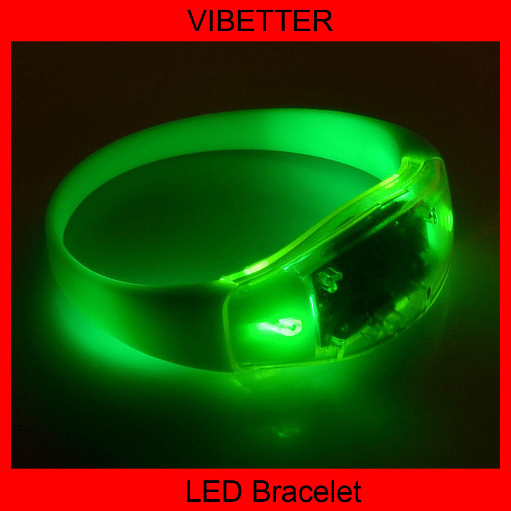 Remote Controlled Sound Activated LED Bracelet With Customized Logo For Night Club, Pubs, Concert, Holidays, Night Racing