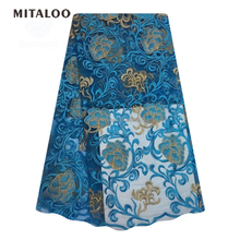 Charming new types elegant guangzhou high-end handmade french lace embroidery party dress lace fabric