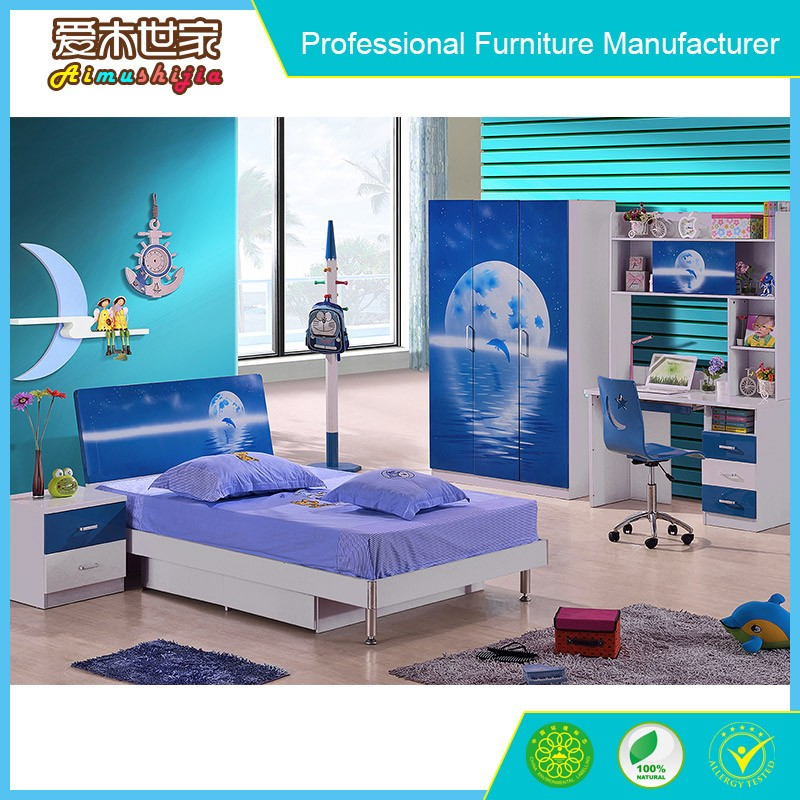 Hot quality modern MDF kids bedroom furniture sets for kids