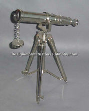 Brass nautical telescope with stand