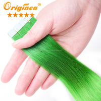 New tape in hair extensions full head tape hair extensions extensions tape method Green color