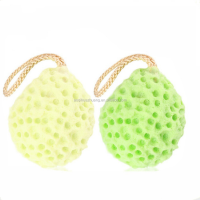 Top Sale Amazon Bath Shower Exfoliator Body Face Washing Cleaning Pad Sponge Wash Puff with Ropes