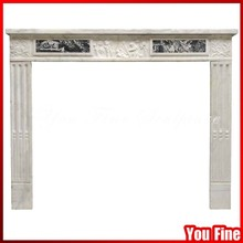 Freestanding Indoor Mantel Surround Marble Decorative Fireplace Mantle