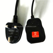 uk standard power cord flat electrical power extension cord electric power on off switch
