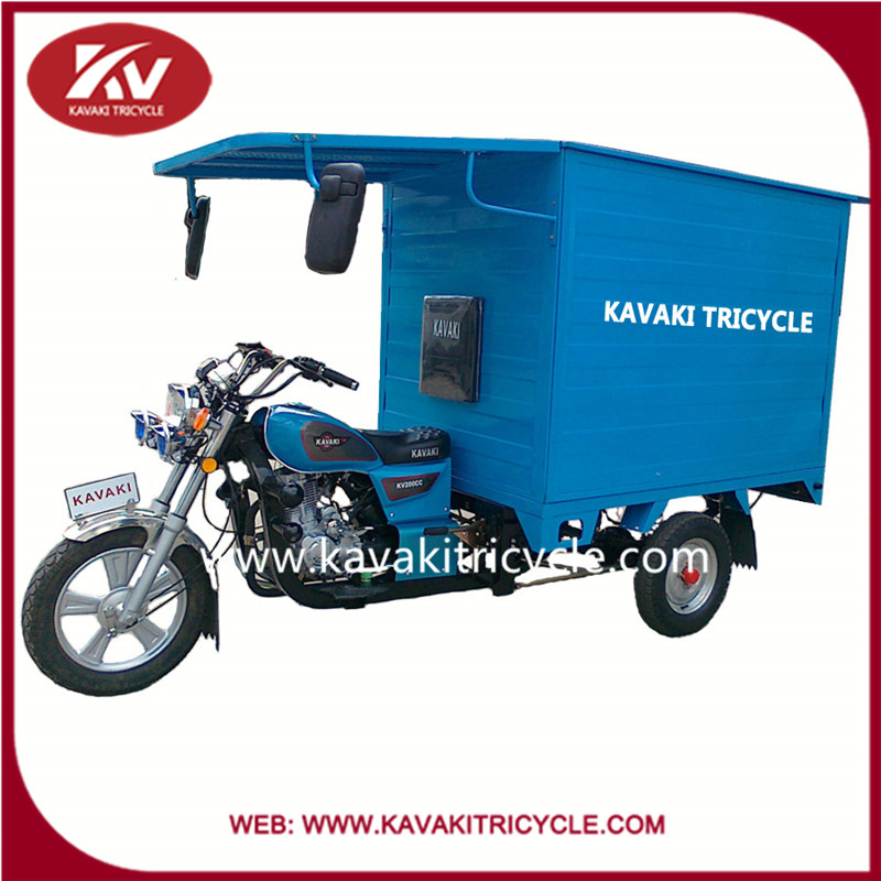 2016 air cooled engine 150cc three wheel motorcycle with closed carriage box in Guangzhou panyu factory cheap for sale